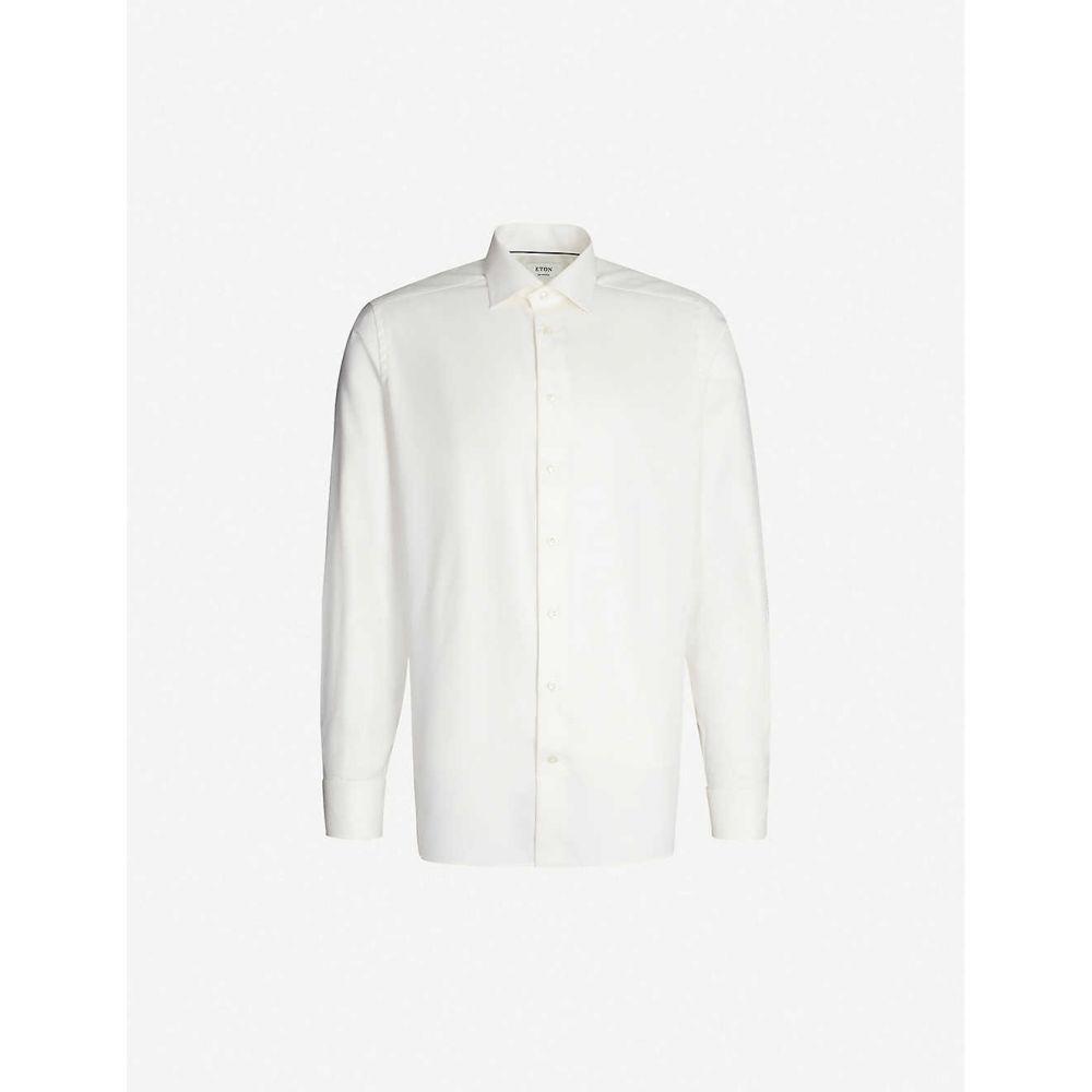 イートン ETON メンズ シャツ トップス【Contemporary-fit cotton shirt】White