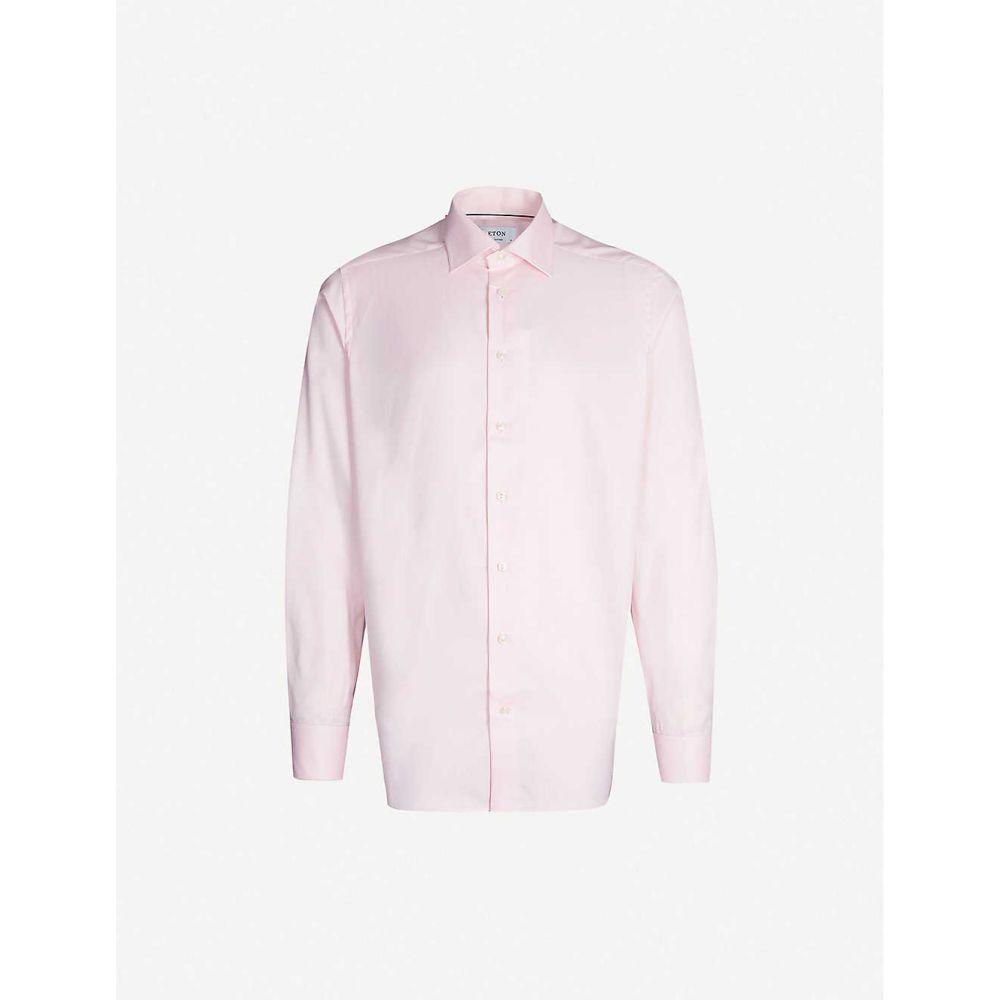 イートン ETON メンズ シャツ トップス【Contemporary-fit cotton shirt】Pink/red