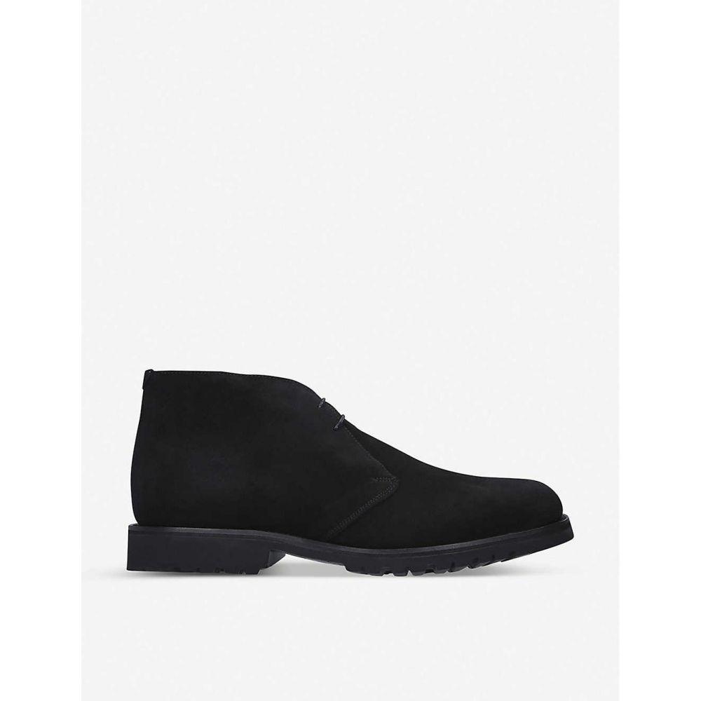 バーカー BARKER メンズ ブーツ チャッカブーツ シューズ・靴【Connor suede chukka boots】BLACK