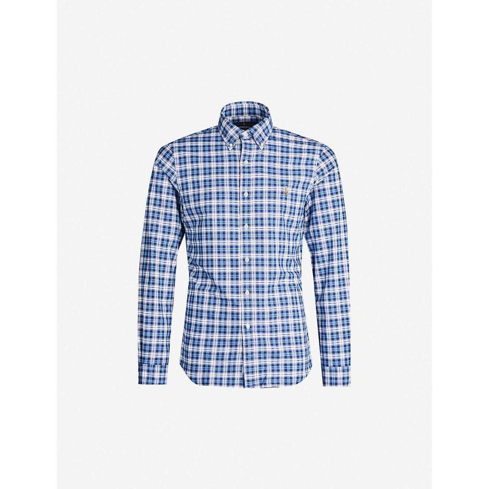 ラルフ ローレン POLO RALPH LAUREN メンズ シャツ トップス【Checked logo-embroidered cotton shirt】MULTI