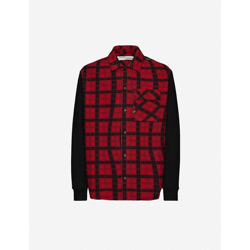 オフホワイト OFF-WHITE C/O VIRGIL ABLOH メンズ シャツ トップス【Oversized check-pattern cotton-blend shirt】Red
