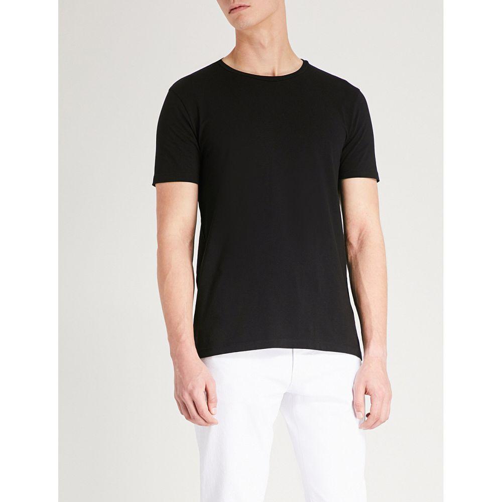 ヒューゴ ボス HUGO メンズ Tシャツ 2点セット トップス【Crewneck pack of two cotton-jersey T-shirts】Black