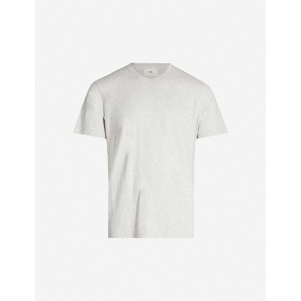 フォーク FOLK メンズ Tシャツ トップス【Assembly classic-fit crewneck cotton-jersey T-shirt】LT GREY MEL