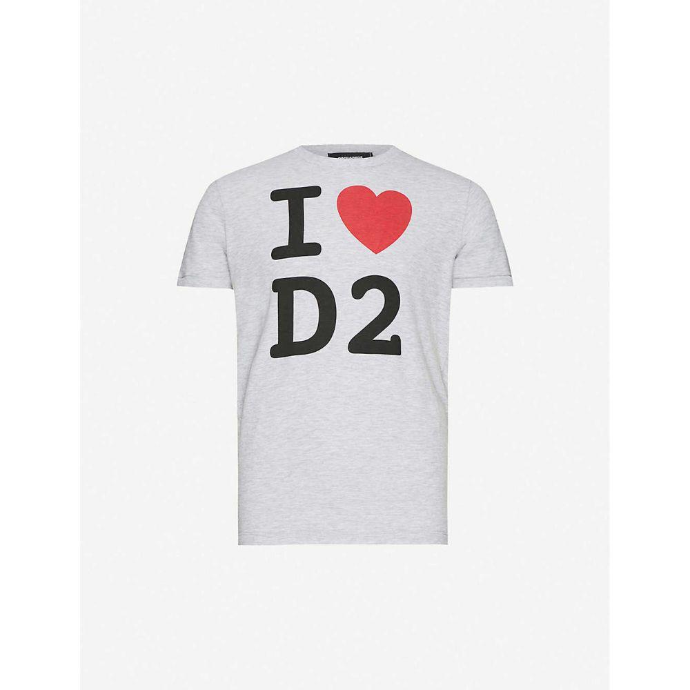 ディースクエアード DSQUARED2 メンズ Tシャツ トップス【Graphic-print cotton-jersey T-shirt】GREY