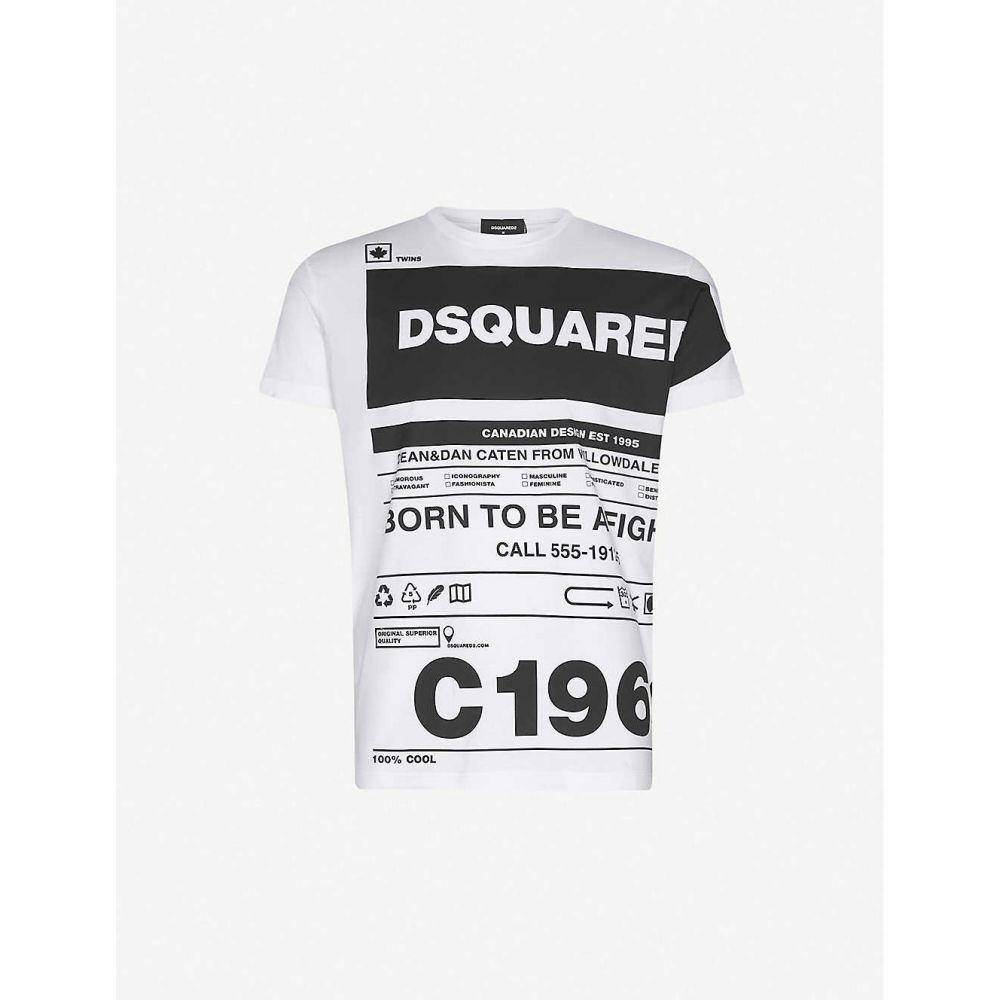 ディースクエアード DSQUARED2 メンズ Tシャツ トップス【Graphic-print short-sleeve T-shirt】WHITE