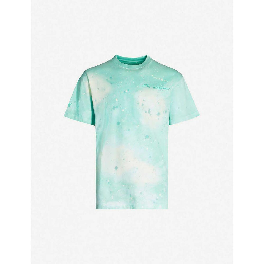 ダニエル アーシャム DANIEL ARSHAM メンズ Tシャツ トップス【Daniel Arsham x A-Cold-Wall cotton-jersey T-shirt】Green Gren