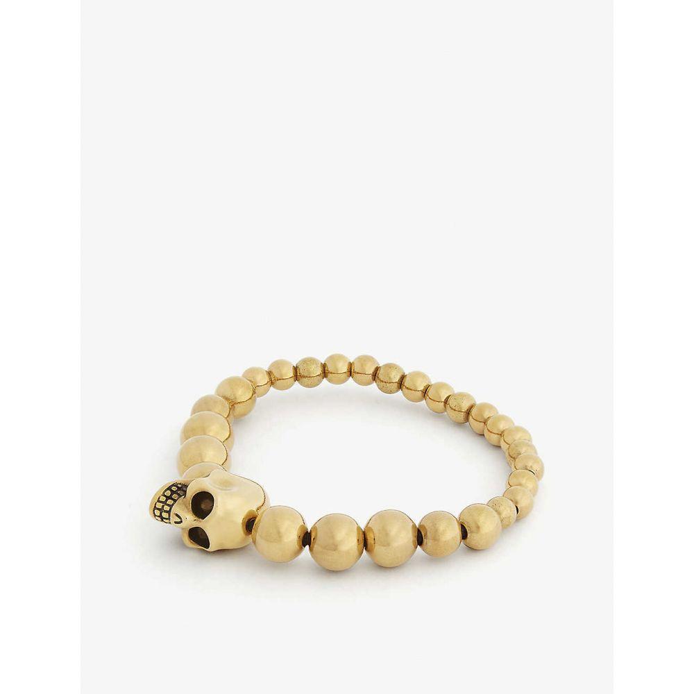 アレキサンダー マックイーン ALEXANDER MCQUEEN メンズ ブレスレット ジュエリー・アクセサリー【Beaded bracelet】GOLD SILVER