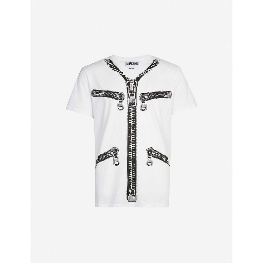 モスキーノ MOSCHINO メンズ Tシャツ トップス【Graphic-print cotton-jersey T-shirt】White