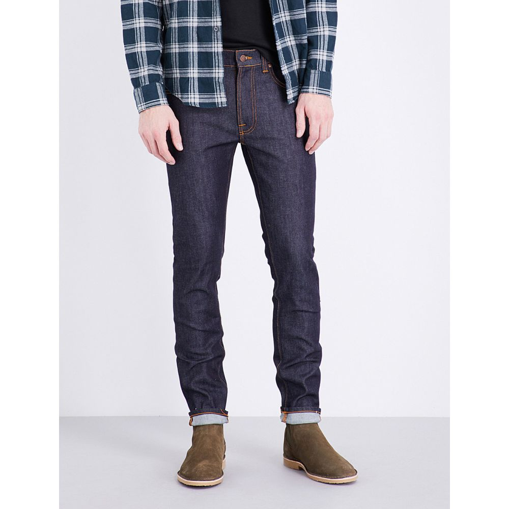 ヌーディージーンズ NUDIE JEANS メンズ ジーンズ・デニム ボトムス・パンツ【Lean Dean slim-fit skinny jeans】Dry dips