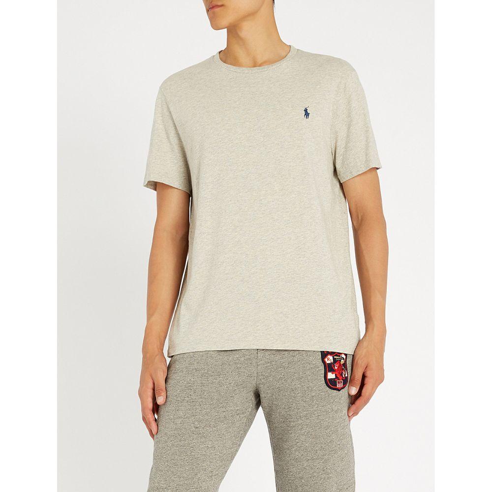 ラルフ ローレン POLO RALPH LAUREN メンズ Tシャツ トップス【Custom slim-fit cotton-jersey T-shirt】New grey heather