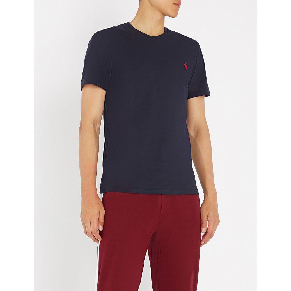 ラルフ ローレン POLO RALPH LAUREN メンズ Tシャツ トップス【Slim-fit logo-embroidered cotton-jersey T-shirt】Ink