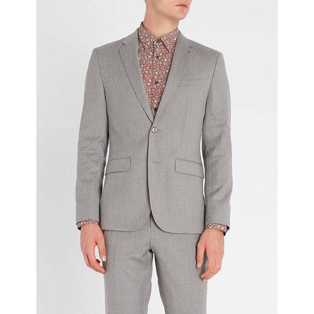 テッドベーカー TED BAKER メンズ スーツ・ジャケット アウター【Kamchaj slim-fit wool blazer】Light grey