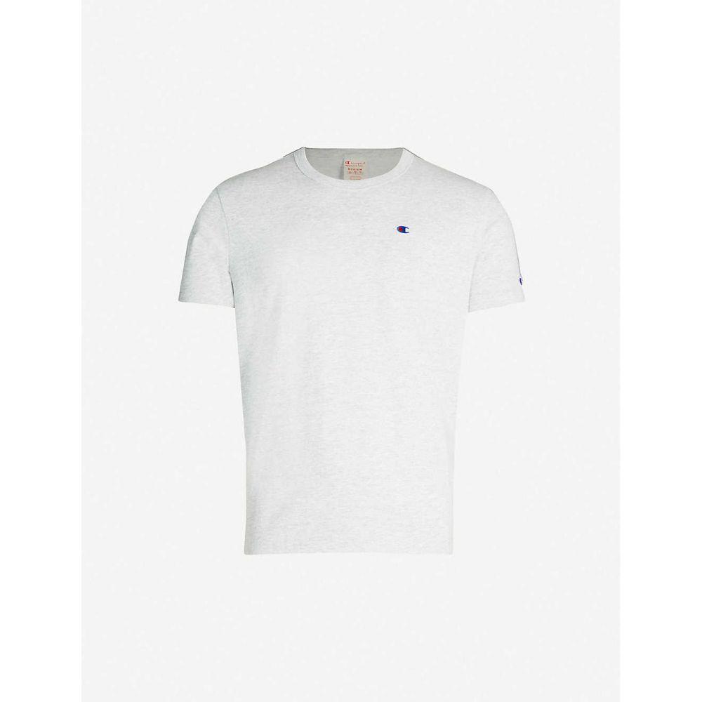 チャンピオン CHAMPION メンズ Tシャツ トップス【Mini logo-embroidered cotton-jersey T-shirt】Loxgm