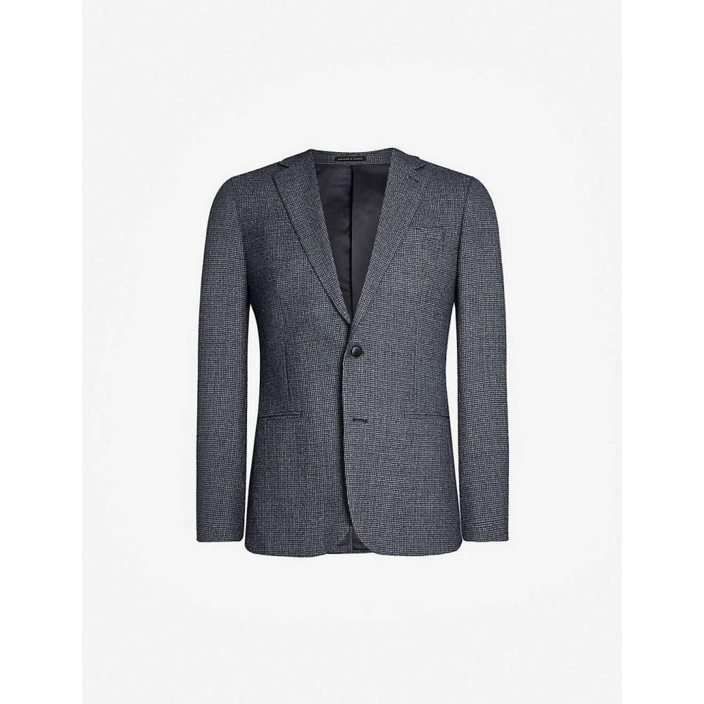 リース REISS メンズ スーツ・ジャケット アウター【Pavese single-breasted wool jacket】Navy