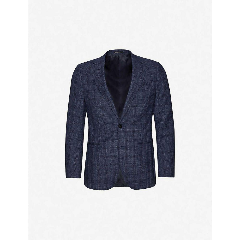 リース REISS メンズ スーツ・ジャケット アウター【Bagley slim-fit wool-blend blazer】INDIGO