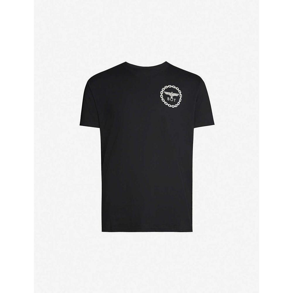 ボーイロンドン メンズ トップス Tシャツ サイズ交換無料 BOY 送料無料 新品 BLACK T-shirt cotton-jersey Graphic-print LONDON 引出物 WHITE