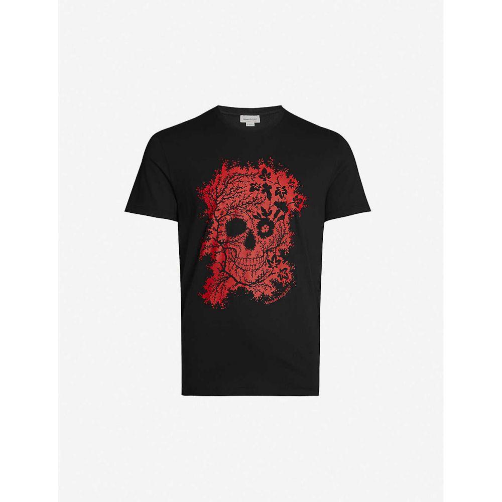 アレキサンダー マックイーン ALEXANDER MCQUEEN メンズ Tシャツ トップス【Candy Skull-print cotton-jersey T-shirt】BLACK MIX