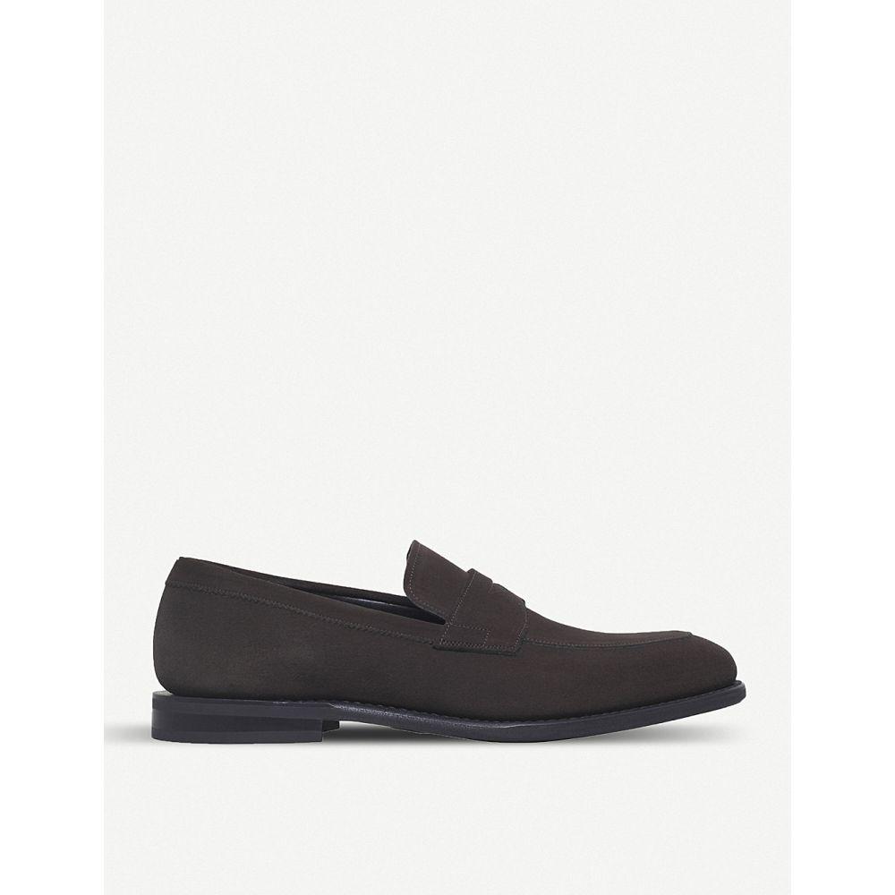 チャーチ CHURCH メンズ ローファー シューズ・靴【Parham penny suede loafers】DARK BROWN