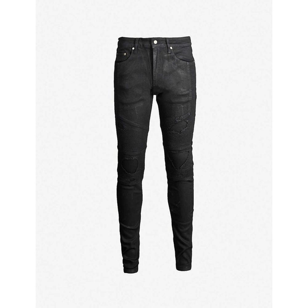 リプレゼント REPRESENT メンズ ジーンズ・デニム ボトムス・パンツ【Biker tapered jeans】Waxed black