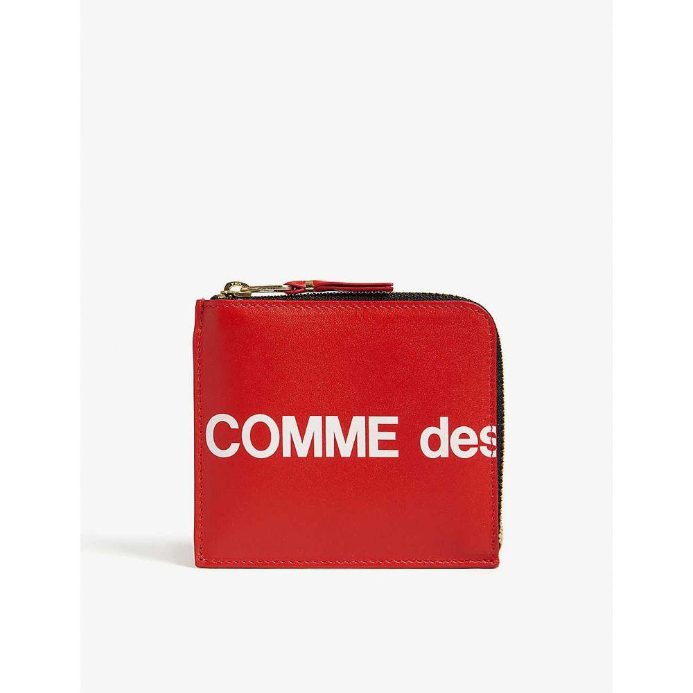 コム デ ギャルソン COMME DES GARCONS メンズ 財布 【Logo print leather wallet】Red