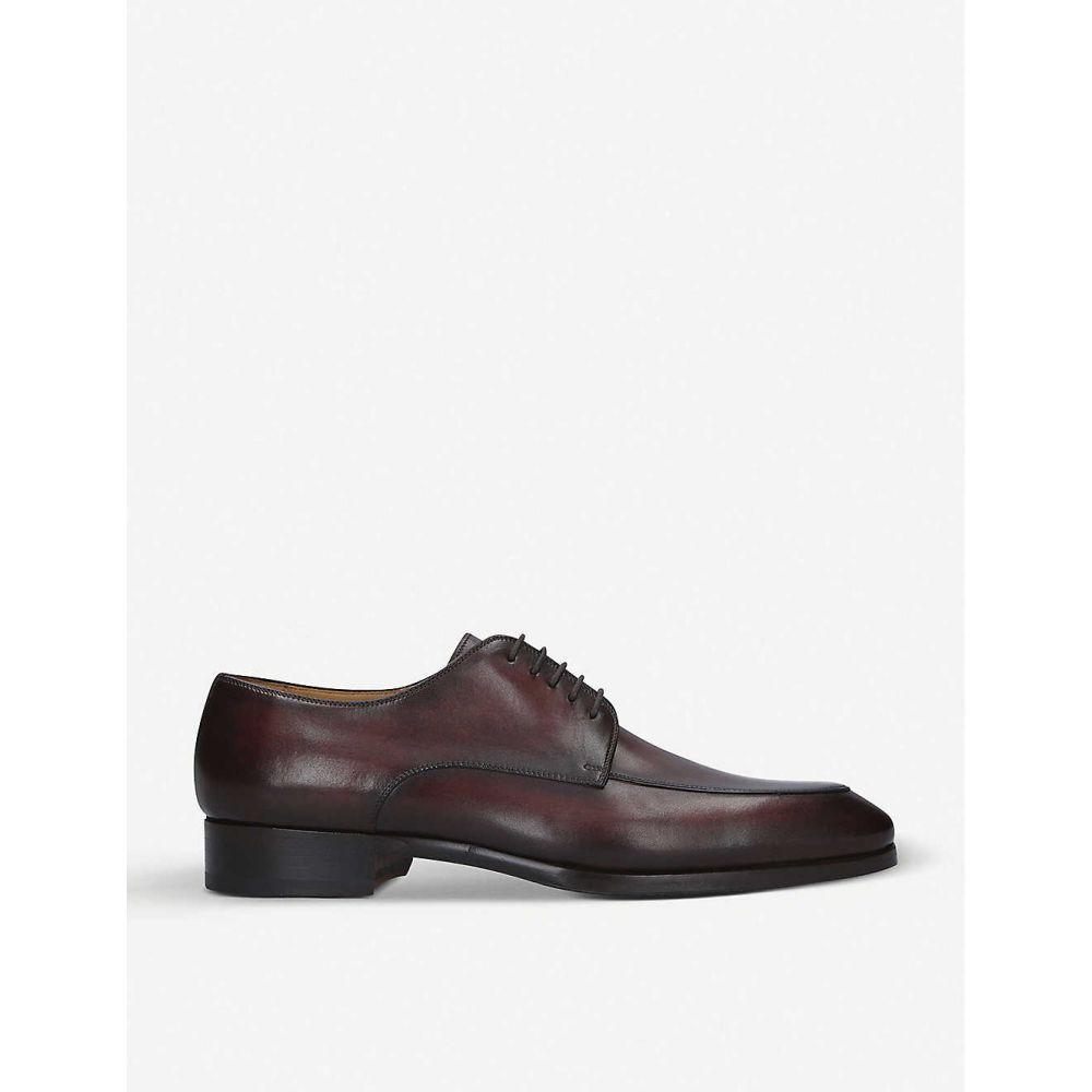 マグナーニ MAGNANNI メンズ 革靴・ビジネスシューズ ダービーシューズ シューズ・靴【Burnished leather Derby shoes】MID BROWN