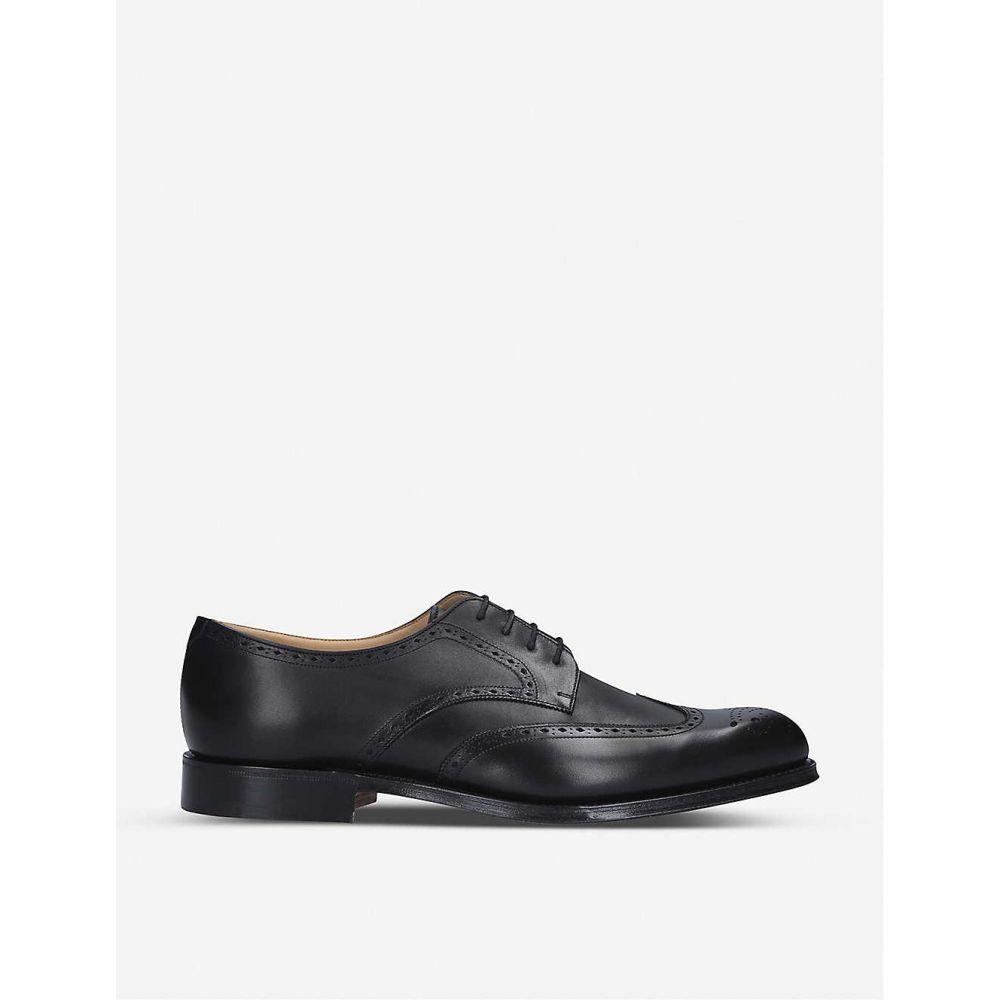 チャーチ CHURCH メンズ 革靴 ビジネスシューズ メダリオン ダービーシューズ シューズ 靴 Cartworth brogue leather derby shoes BLK OTHER