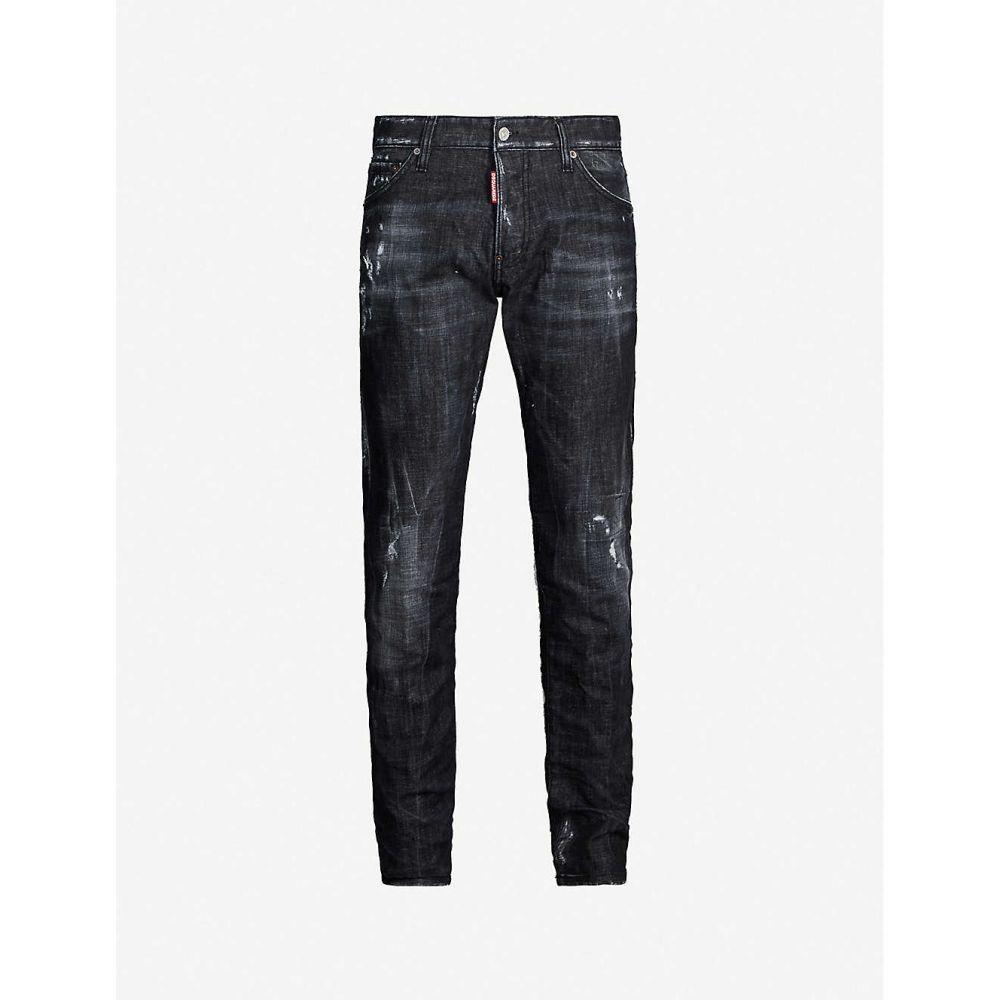 ディースクエアード DSQUARED2 メンズ ジーンズ・デニム リップドジーンズ ボトムス・パンツ【Ripped slim jeans】BLACK