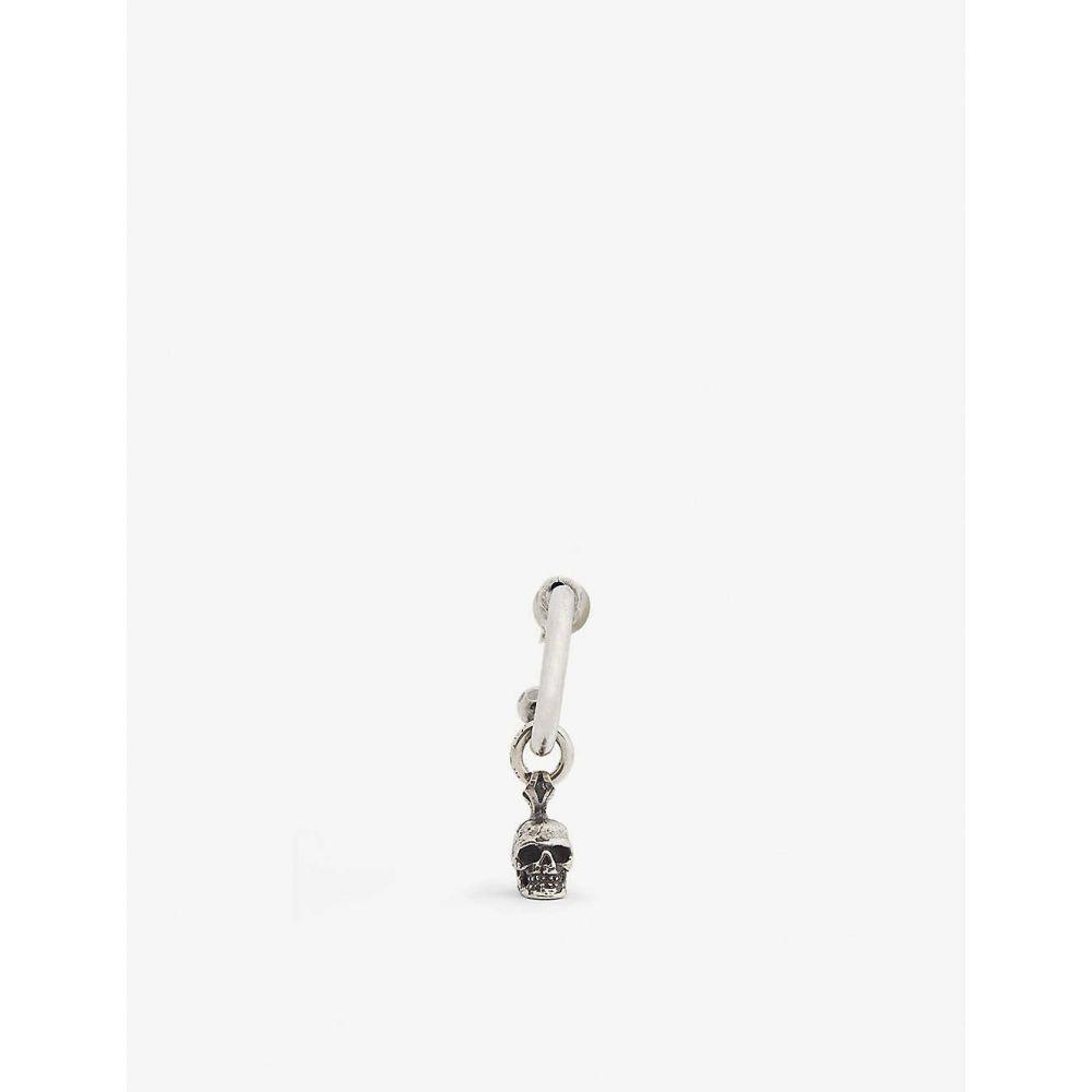 エマニュエレ ビコッキ EMANUELE BICOCCHI メンズ イヤリング・ピアス フープピアス ジュエリー・アクセサリー【Silver skull hoop earring】Silver