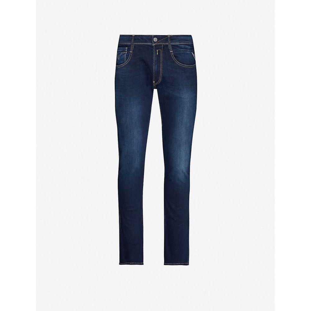 リプレイ REPLAY メンズ ジーンズ・デニム ボトムス・パンツ【Anbass slim-fit skinny stretch-denim jeans】DARK BLUE