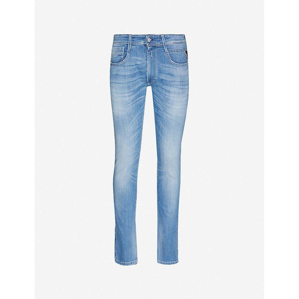 リプレイ REPLAY メンズ ジーンズ・デニム ボトムス・パンツ【Anbass skinny stretch-denim jeans】Medium Blue