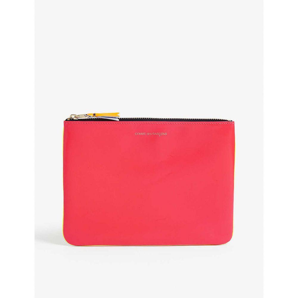 コム デ ギャルソン COMME DES GARCONS メンズ ポーチ 【Fluro leather pouch】PINK YELLOW