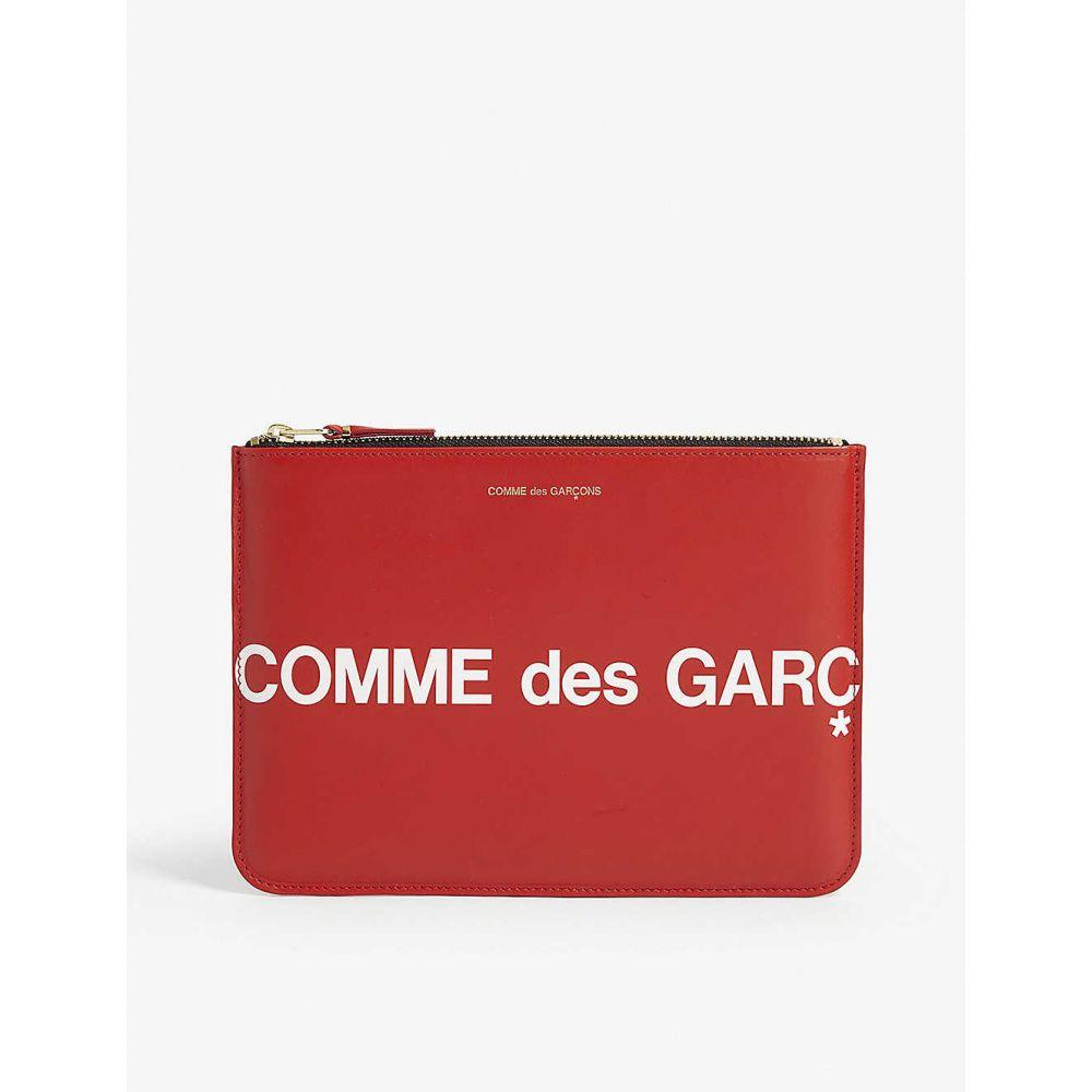 コム デ ギャルソン COMME DES GARCONS メンズ ポーチ 【Logo leather pouch】RED