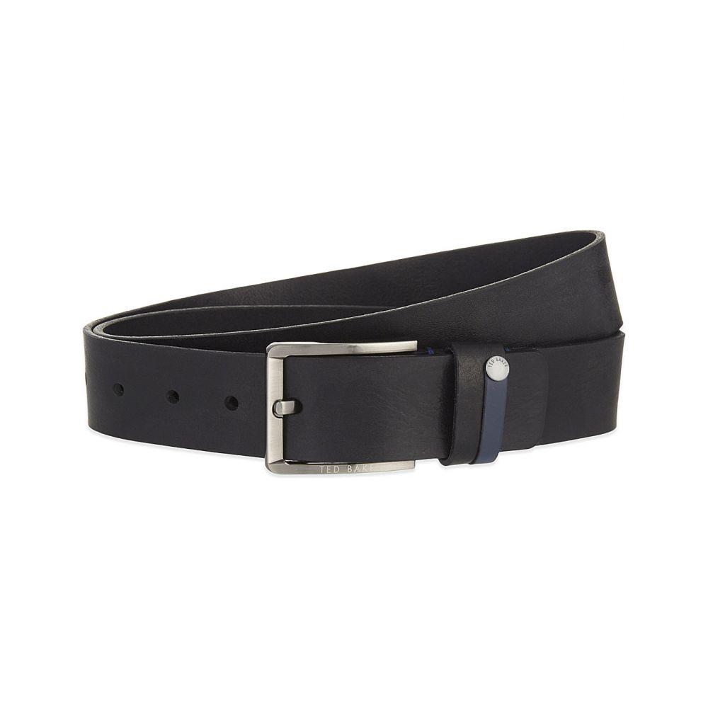 テッドベーカー TED BAKER メンズ ベルト 【Keepsak leather belt】Black
