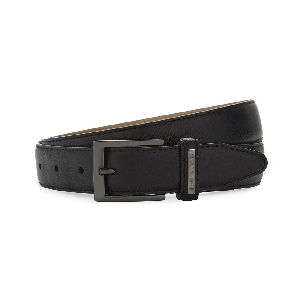テッドベーカー TED BAKER メンズ ベルト 【Lizwiz leather belt】BLACK
