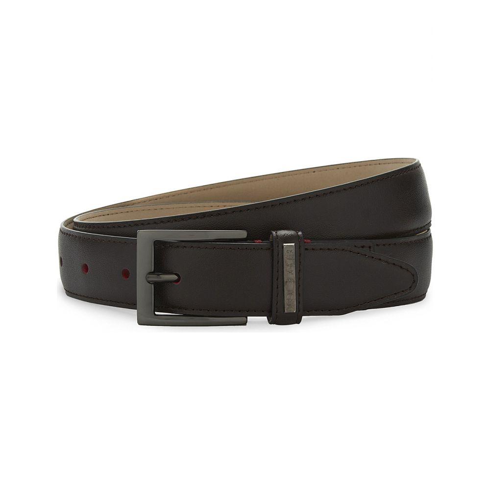 テッドベーカー TED BAKER メンズ ベルト 【Lizwiz leather belt】CHOCOLATE