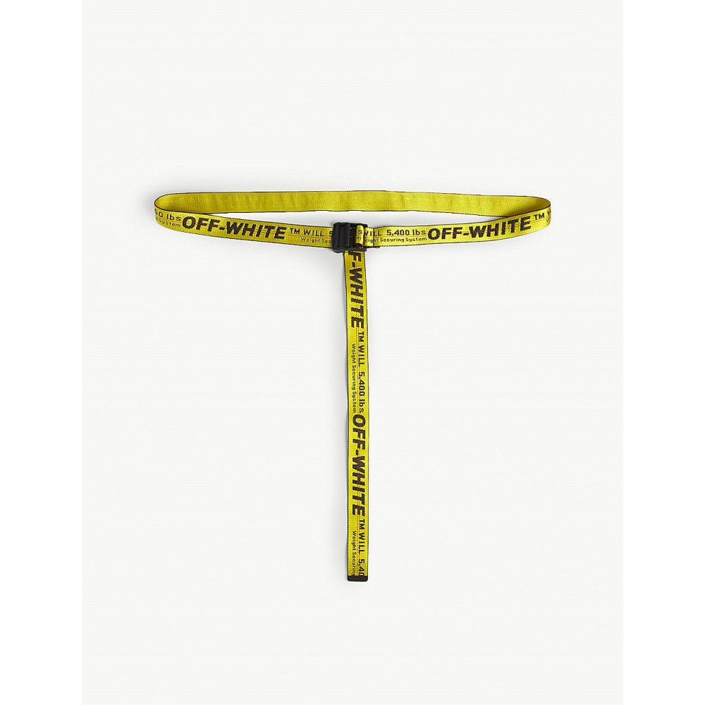 オフホワイト OFF-WHITE C/O VIRGIL ABLOH メンズ ベルト 【Industrial belt】Yellow