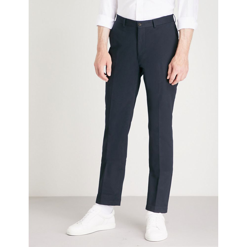 ラルフ ローレン RALPH LAUREN PURPLE LABEL メンズ チノパン ボトムス・パンツ【Knightsbridge slim-fit straight stretch-cotton chinos】Navy