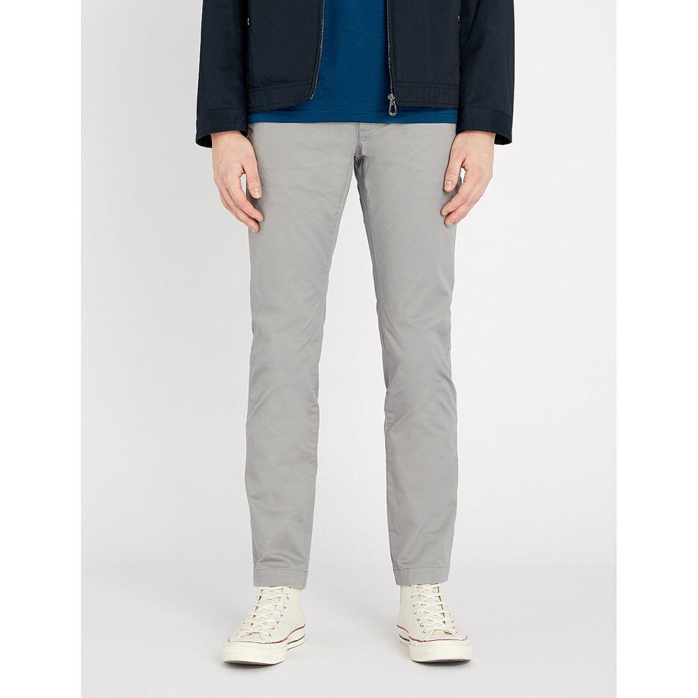 テッドベーカー TED BAKER メンズ チノパン ボトムス・パンツ【Slim-fit straight stretch-cotton chinos】Grey