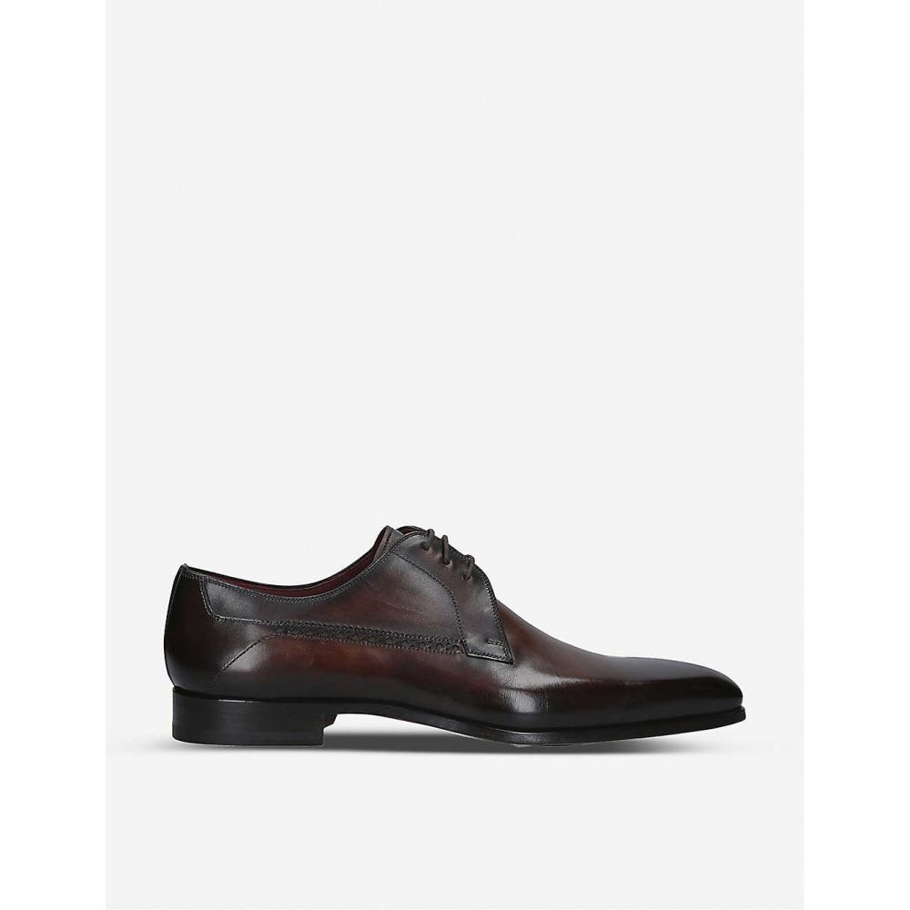 マグナーニ MAGNANNI メンズ 革靴・ビジネスシューズ ダービーシューズ シューズ・靴【Opanka Derby leather shoes】BROWN