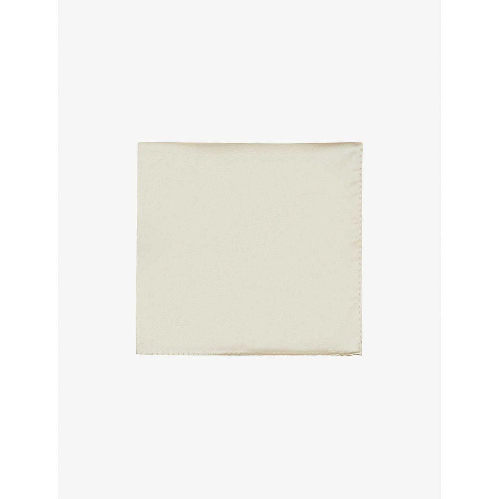 ランバン LANVIN メンズ ハンカチ・チーフ 【Silk pocket square】CREAM