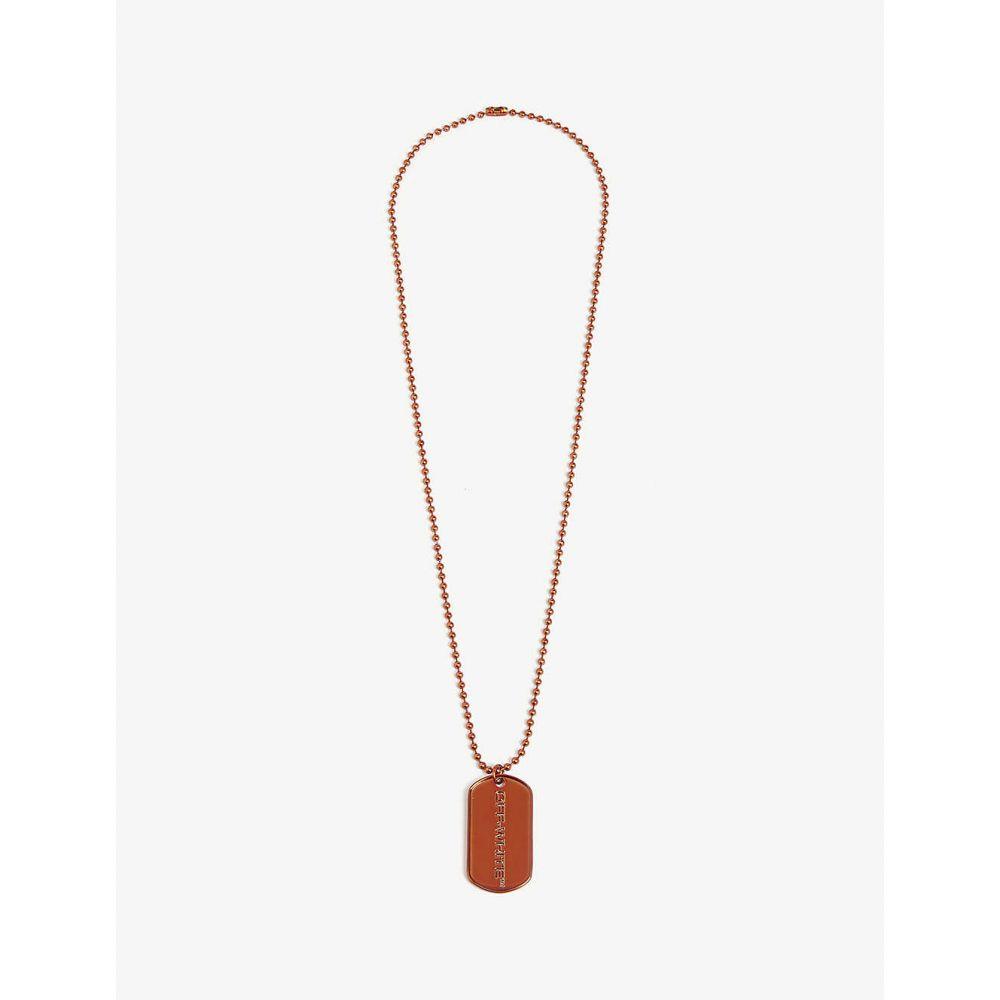 オフホワイト OFF-WHITE C/O VIRGIL ABLOH メンズ ネックレス ジュエリー・アクセサリー【Dogtag necklace】Orange