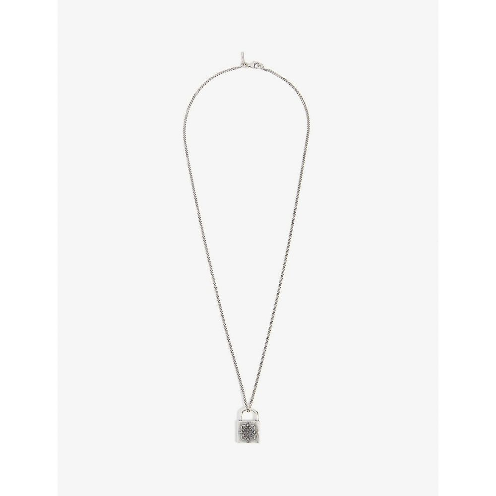エマニュエレ ビコッキ EMANUELE BICOCCHI メンズ ネックレス ジュエリー・アクセサリー【Padlock silver necklace】Silver