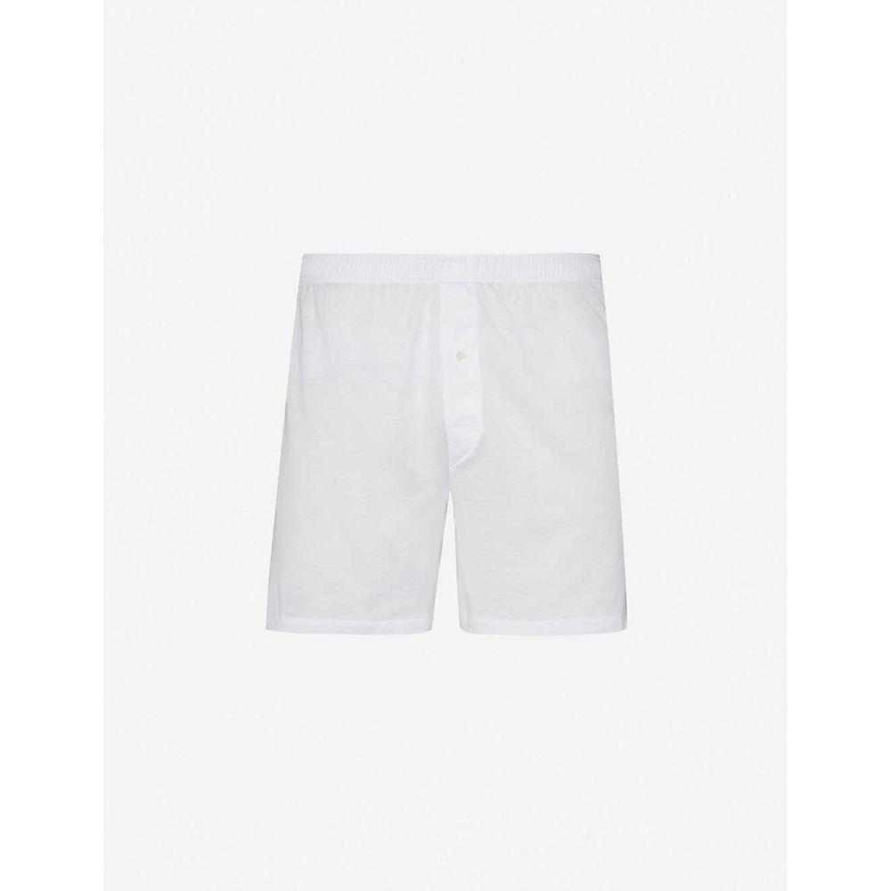 ヅィメリー ZIMMERLI メンズ ボクサーパンツ インナー・下着【Sea Island cotton trunks】White