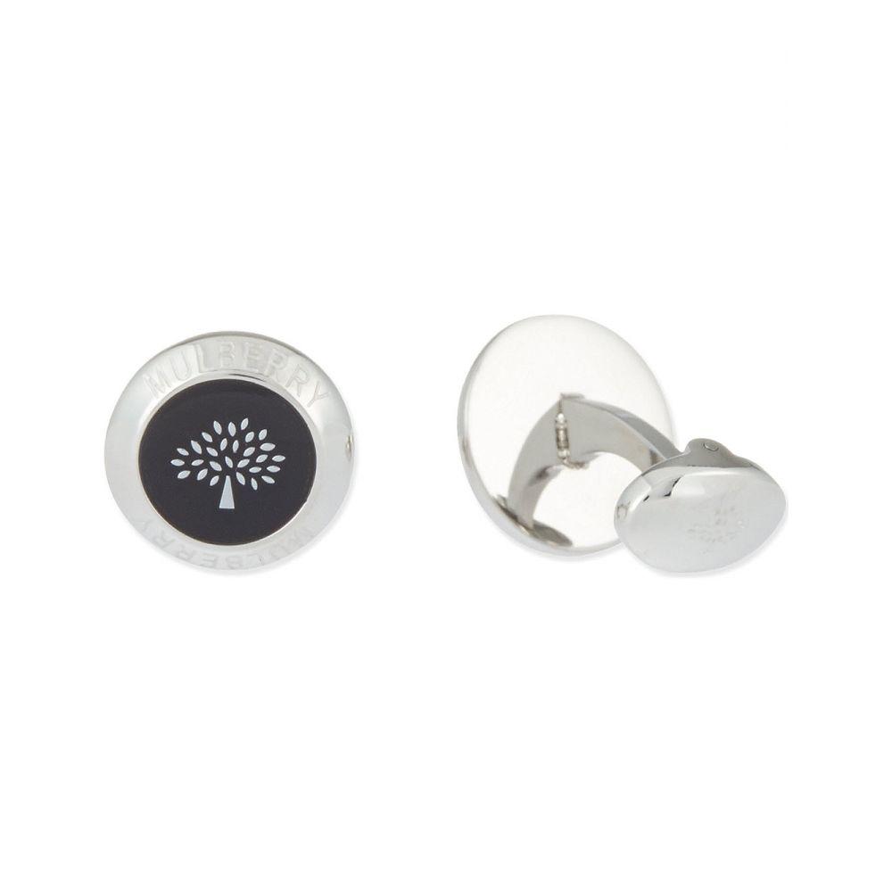 マルベリー MULBERRY メンズ カフス・カフリンクス 【Enamel coin cufflinks】BLACK