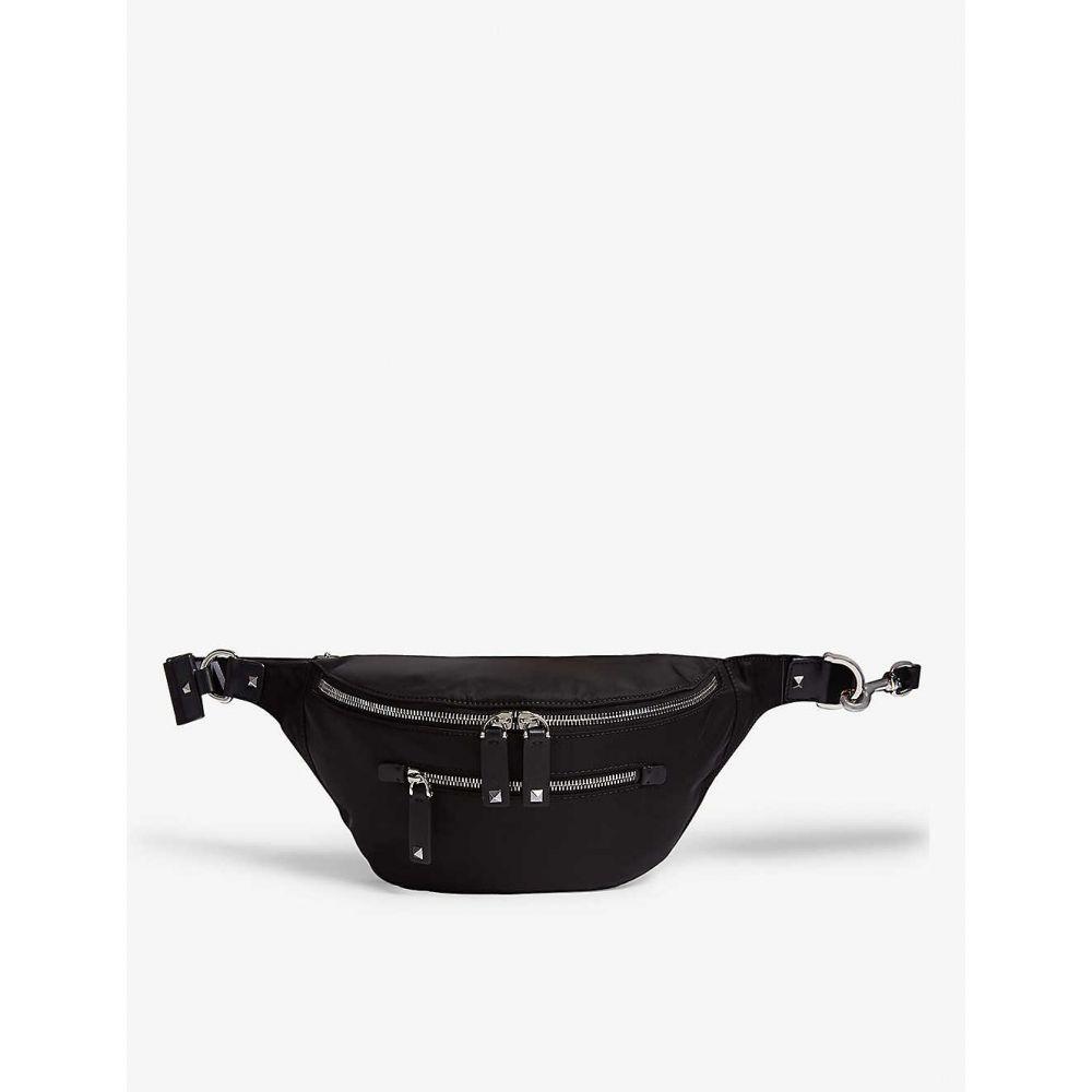ヴァレンティノ VALENTINO メンズ ボディバッグ・ウエストポーチ バッグ【Woven belt bag】Black