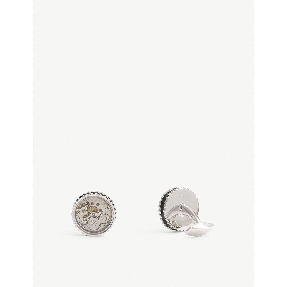 タテオシアン TATEOSSIAN メンズ カフス・カフリンクス 【Vintage Gear watch cufflinks】Silver