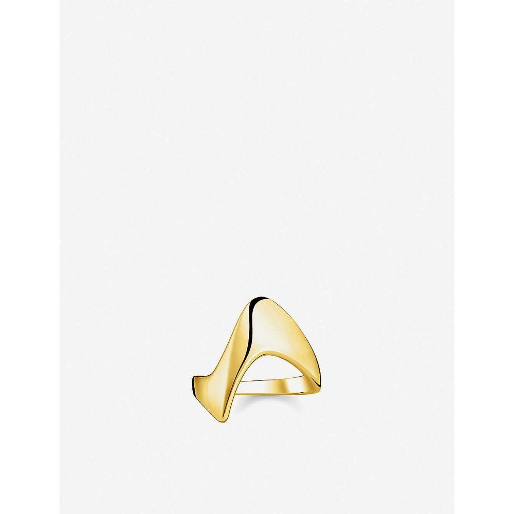 トーマスサボ THOMAS SABO メンズ 指輪・リング ジュエリー・アクセサリー【Heritage 18ct yellow-gold plated sterling silver wave ring】yellow gold