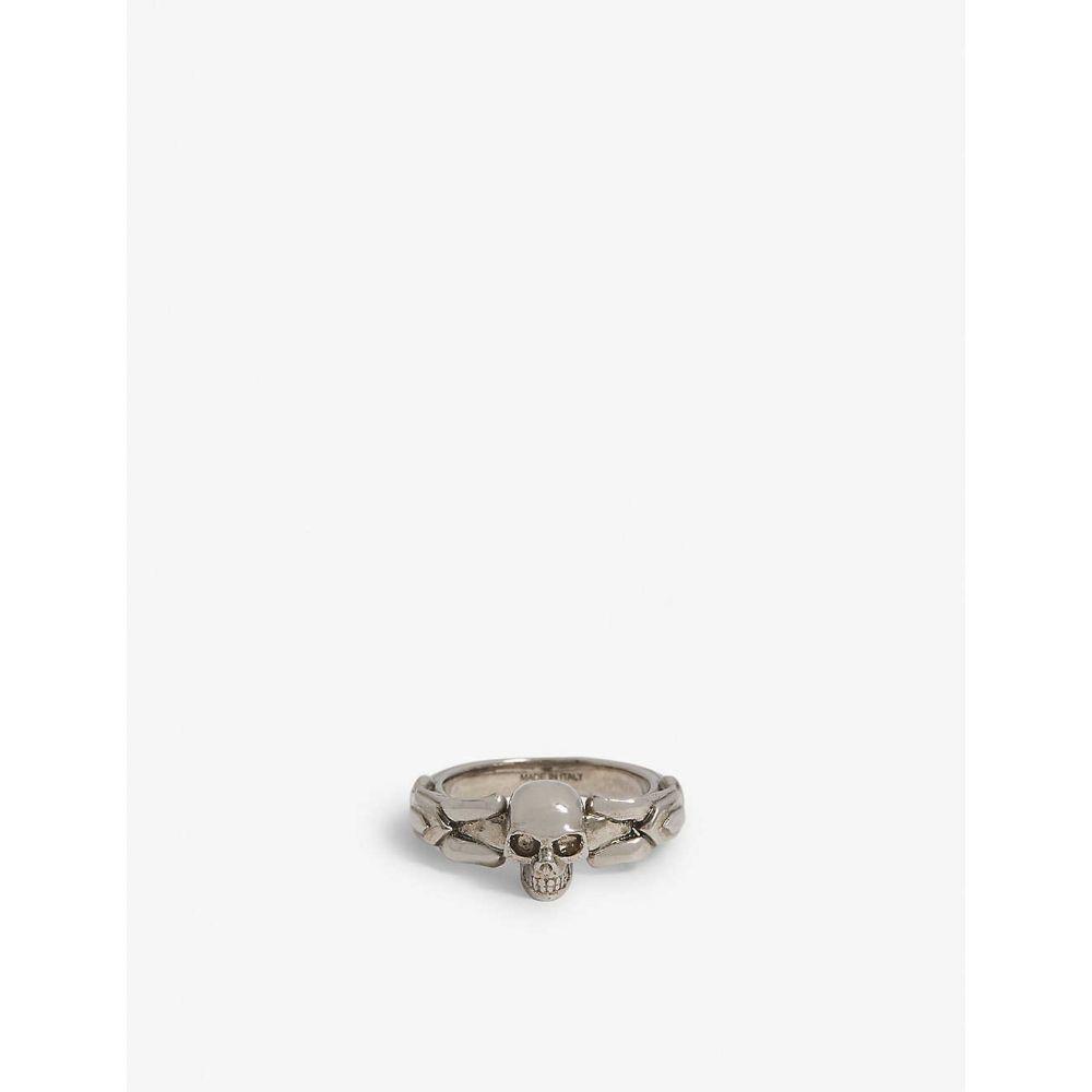 アレキサンダー マックイーン ALEXANDER MCQUEEN メンズ 指輪・リング ジュエリー・アクセサリー【Textured skull ring】Silver