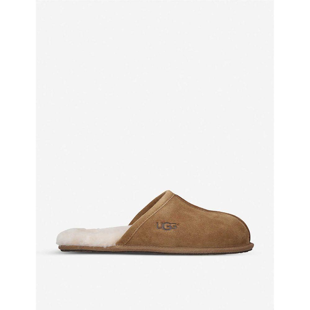 アグ UGG メンズ スリッパ シューズ・靴【Scuff sheepskin slippers】Brown