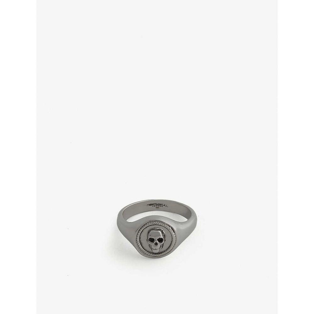 ノーススカル NORTHSKULL メンズ 指輪・リング ピンキーリング ジュエリー・アクセサリー【Sterling silver Atticus pinky ring】Gun metal